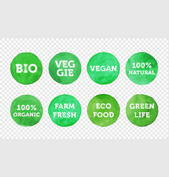 Bio veggie farm fresh vegan 100 organic and local vector