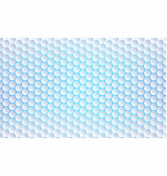 blue hexagon background modern abstract vector image