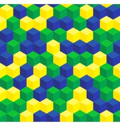 Brazilian colors seamless pattern vector