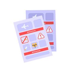 briefing card vector image
