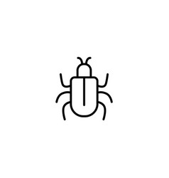 bug insect icon vector image