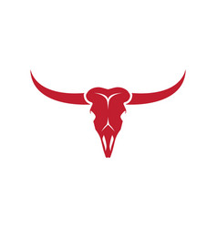 bull skull icon vector image
