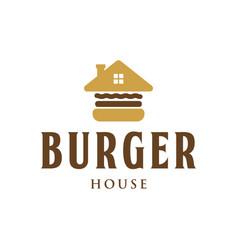 burger house vintage logo design inspiration vector image