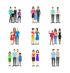 cartoon characters different homosexual couples vector image