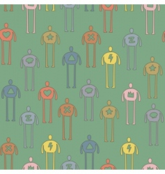 characters pattern vector image
