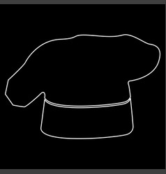 chef cooking hat white color path icon vector image