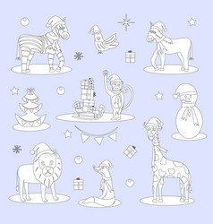 christmas childrens coloring vector image
