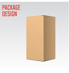 Clear carton box vector
