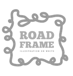 Curved road track in a frame vector image