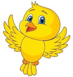 Cute bird cartoon flying vector image