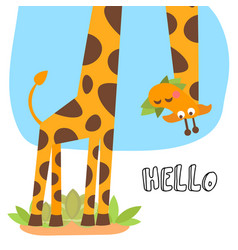 Cute cartoon trendy design little giraffe vector