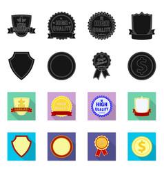 Design emblem and badge logo collection vector