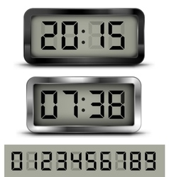 Digital clock t vector image