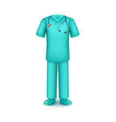 doctor uniform isolated on white vector image