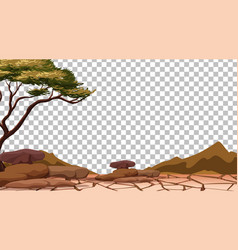 Dry cracked land on transparent background vector