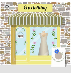 Eco clothing shop organic clothes store vector
