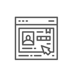employee resume personal account line icon vector image