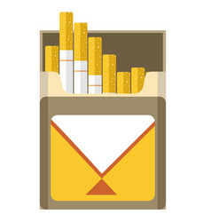 filtered cigarette full package box open for vector image