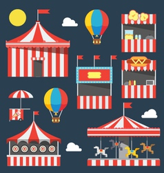 Flat design of carnival festival vector