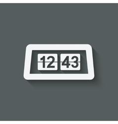 Flip Alarm Clock vector