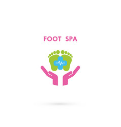 foot care logohuman foot iconfoot spa concept vector image
