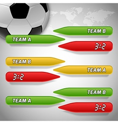Football score colors buttons vector