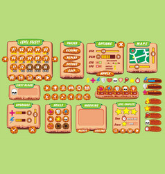 Game gui 25 vector