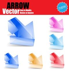 Glossy Arrow vector image