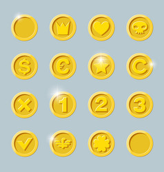gold coins set vector image