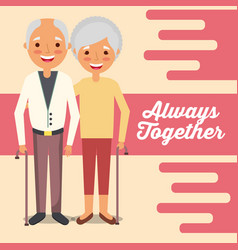 Grandparents day card vector