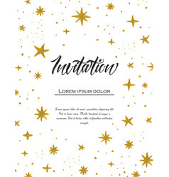 hand painted stars vector image