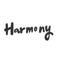 Harmony sticker for social media content vector