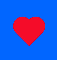Heart on the blue background vector