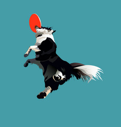 High jump dog vector