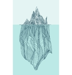 Iceberg Vintage Engraved Hand Drawn vector image