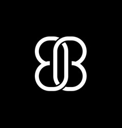 initial letter b logo template with chain infinity vector image