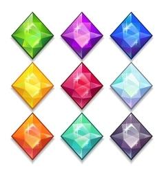 Jewels set vector image