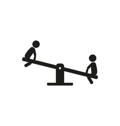 Kids children play on the seesaw playground vector