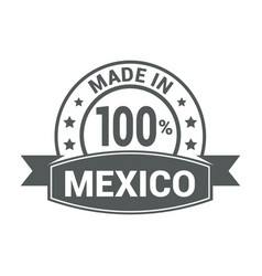 made in mexico flag design vector image