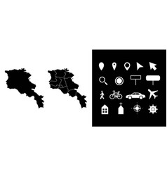 Map armenia administrative regions departments vector