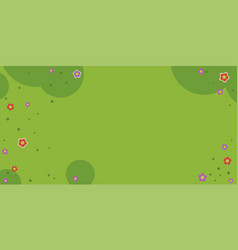 Meadow with flowers flat isolated vector