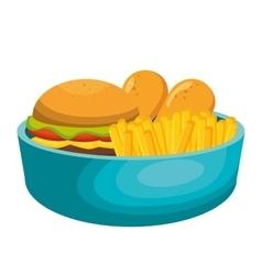 nutrition food design vector image