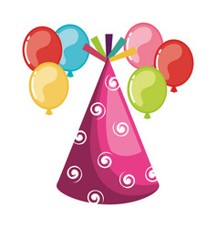 party bubbles celebration icon vector image