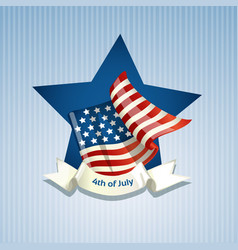 poster with american flag on independence vector image