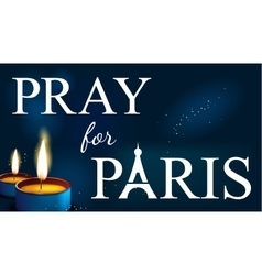 Pray for paris Abstract Background Silhouette of vector
