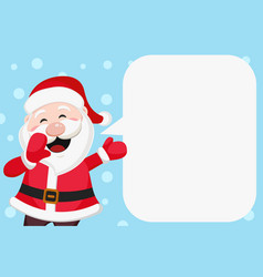 Santa claus speaks loudly new year banner vector
