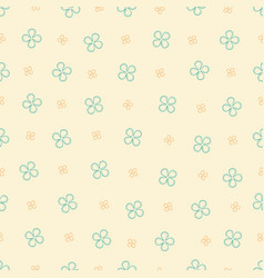 Seamless pattern with four petals flowers vector