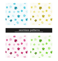 seamless pattern with puzzle pieces vector image