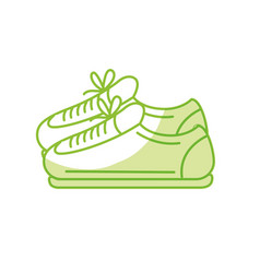 Silhouette sneakers to practice exercise and train vector