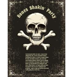 skull frame poster template vector image